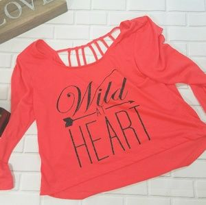 Wild At Heart Cropped T with strappy back